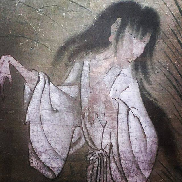 """#I love you on Instagram: """"夏は幽霊 暑さも忘れる  japanese traditional ghost 'yurei'  drawn  more than 500 years ago  #幽霊#永国寺#夏 #熊本 #九州 #Japan#japanese Kyushu#ghost #yurei…"""" (811672)"""
