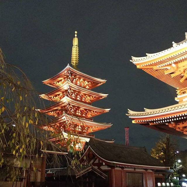 "yu-ki on Instagram: "". . . #あさくさぐらむ #浅草寺 . . 朱色の建物のライトアップは、雰囲気が温かくてすごく素敵。 . . 忘年会計画中… 場所は………浅草w . . 浅草らぶ♥️ . 2人のフットワークが軽いところも好きよ(←本人達これ見てない) . .…"" (812838)"