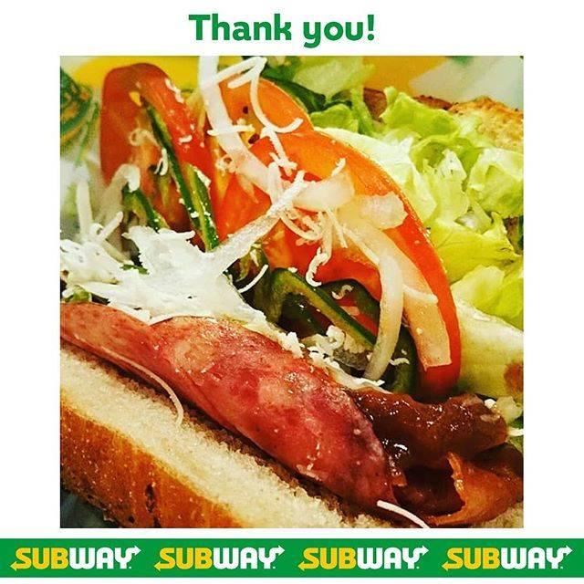 """サブウェイ on Instagram: """"#Repost 「BLT」サンドをバルサミコソースでお召し上がりいただきました😊 @jas_mine444 さん、素敵な投稿、ありがとうございます💚 --- 全国巡業の旅路の締め括りは小倉の #subway #サブウェイ #野菜おおめ 指定できます…"""" (823170)"""
