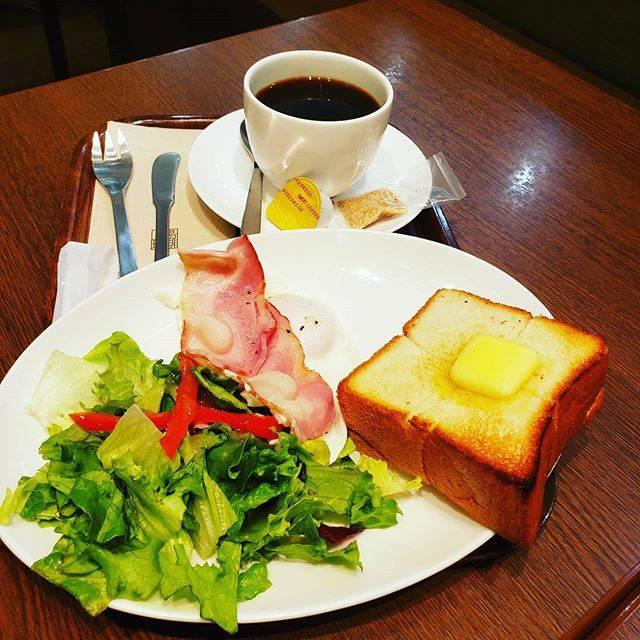 "@ki.000000 on Instagram: ""{#モーニングプレート }#上島珈琲/#イオンモール名取 朝早く仙台空港に行く用事があり、向かう途中にイオンモールへ今朝の朝食はモーニングプレート☕"" (824662)"