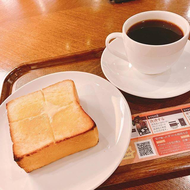 """もぐもぐ on Instagram: """"#日本橋 #上島珈琲店 #厚切りバタートースト  日本橋は一生工事してんな! 毎度毎度迷子  迷子は体力使うわ エネルギーバターチャージ  コロナの影響で、 セルフのお冷とか砂糖ミルク棚が すっからかん  店員さんからもらうようになってた  今から行く客先も…"""" (824672)"""
