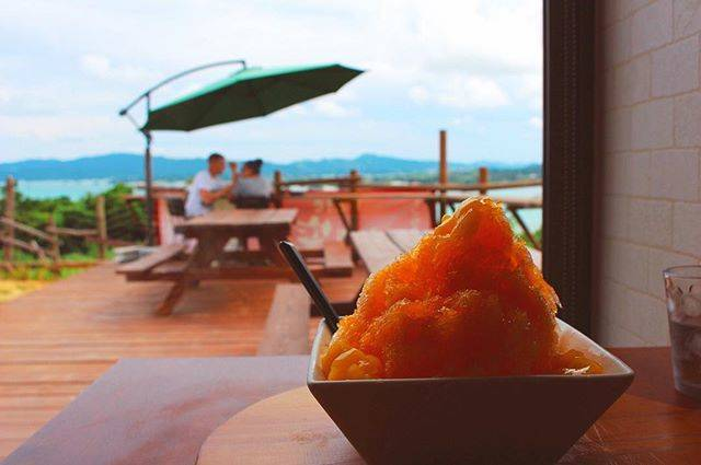 "Shiori on Instagram: ""・ ・ #沖縄 #古宇利島 #cafe心窯 ・ ・ 最高の景色×最高のピザ×最高カキ氷×最高の店員さん×最高のBGM=最高の時間、最高の思い出 ・ ・ 沖縄行ったら、絶対に行くべきカフェ。 ・ ・ ・ 「海も空も山もみえるから、働いてる場合じゃないんですよ〜!」 ・…"" (827453)"