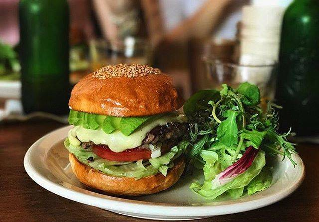 """WESTWOODBAKERS's Instagram profile post: """"Thanks for coming!Avocado mozzarella cheese burger 🍔 (📸 @_takeko_ )#westwoodbakers #coffee #bread #cafe #breakfast"""" (860485)"""