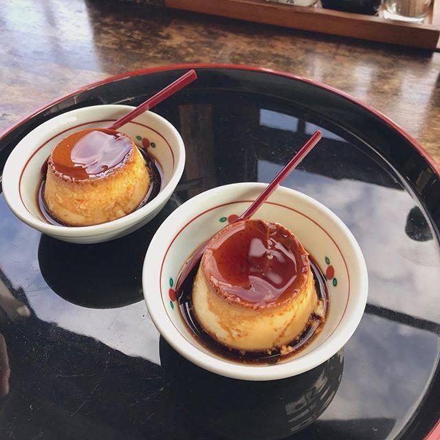 "emi on Instagram: ""*..久々に地元🍮..#大分 #別府#岡本屋#岡本屋売店 #地獄蒸しプリン #地獄蒸し#oita #beppu"" (866163)"