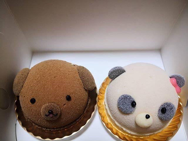 """あやか♡ on Instagram: """"プティメルヴィーユでくまちゃんとパンダのケーキ買っちゃいました💝可愛いね♡#プティメルヴィーユ"""" (872336)"""