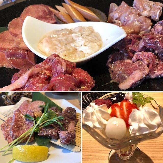 "maki on Instagram: ""久しぶりの焼肉🥩〆はやっぱりパフェ🍧#焼肉 #ビラリストランテgaja"" (873127)"
