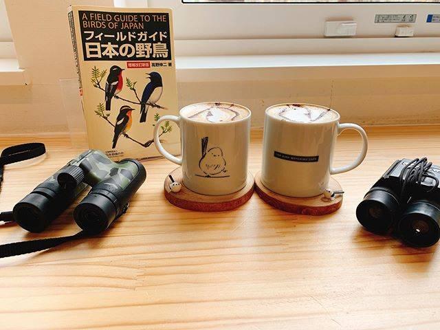 """ミサキ on Instagram: """"2020.03.12.thu * このまえ載せた鳥たちを撮影したカフェでは、 今人気のシマエナガさんのカップ、コースターのカプチーノが飲めます。 大きめのサンドイッチもいただきましたが、 お腹空きすぎて撮るのは忘れました。  鳥好きにはたまらん空間ですので、…"""" (880420)"""