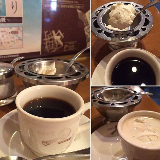 """〈ロシェ〉酒・肉・魚・たまに料理 on Instagram: """"昼下がりのブラジレイロ ・ ここのコーヒーは生クリームがついてくるから好き 昔はけっこう生クリームがついてくるお店あったんだけどなぁ ・ ここは◯十年前 よくダンディな上司に連れてきてもらいました ・ もう亡くなられましたが芸術家でフェミニストで…"""" (880625)"""