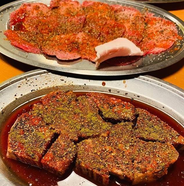 """焼肉一力 on Instagram: """"かぼす胡椒で食べるヒレ角と塩タンもおすすめです#焼肉一力#別府#焼肉#別府#別府駅前#beppu#yakiniku"""" (881739)"""