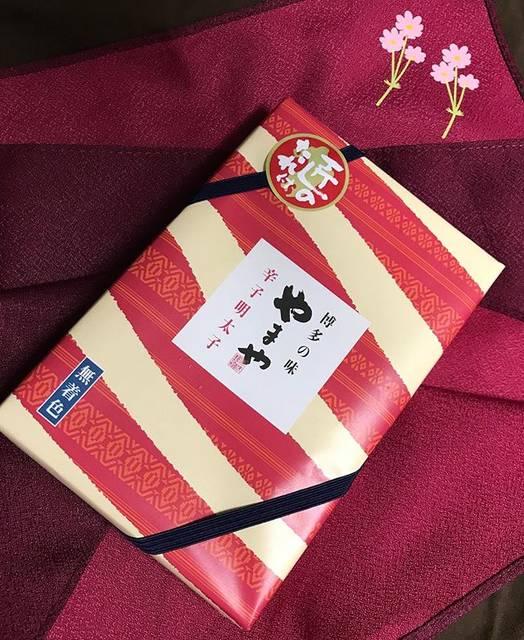 "Hiromi Kasama's Instagram post: ""お友達からの贈り物。私の大好物(*´꒳`*) 。めっちゃ美味しい!!(๑˃̵ᴗ˂̵) 。いつも有り難いです(●´ω`●) 。#九州土産 #やまや明太子"" (882707)"