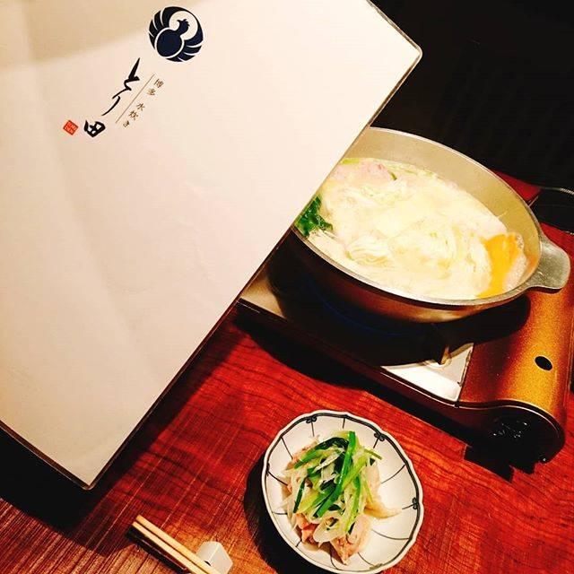 """Miho on Instagram: """"本日の〆!#博多水炊きとり田.#博多水炊き #水炊き #とり田 #お初! #美味しい♡#濃厚白濁スープ #鶏スープ #コラーゲン #肌プルプル #明日に期待!"""" (884477)"""