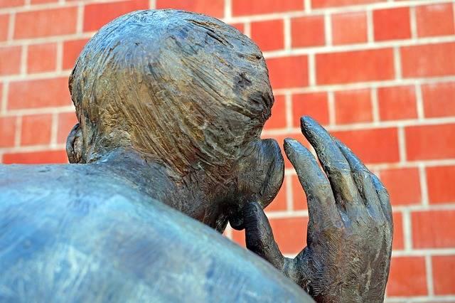 Sculpture Bronze The Listening · Free photo on Pixabay (30660)