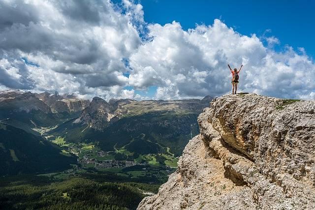 Person Mountain Top Achieve · Free photo on Pixabay (46485)