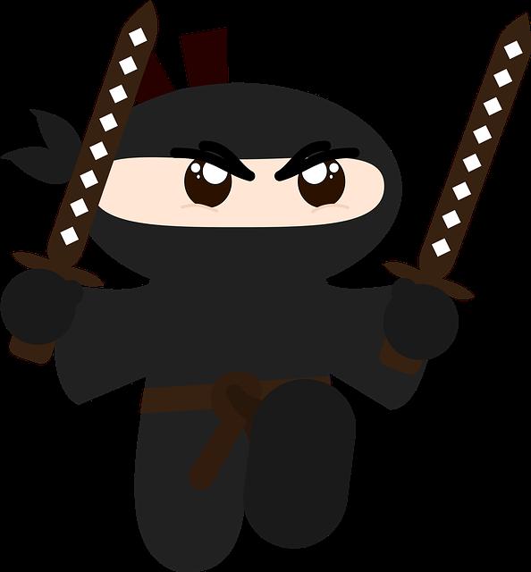 Ninja Minimalist Hd · Free vector graphic on Pixabay (48312)