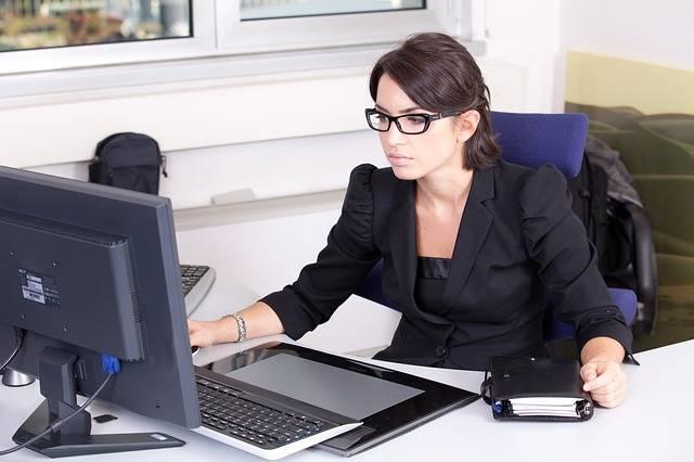 Secretary Used Glasses Beautiful · Free photo on Pixabay (72618)