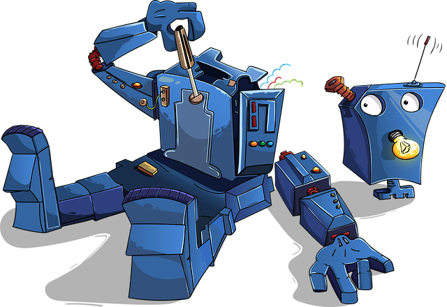 Robot Disassembled Blue · Free vector graphic on Pixabay (74966)
