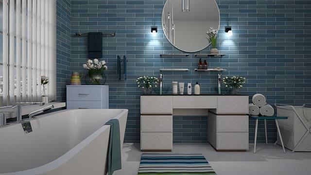 Bathroom Blue Tile - Free photo on Pixabay (83413)