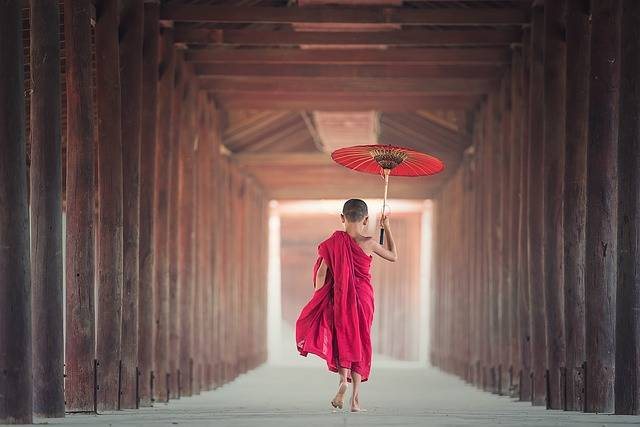 Umbrella Buddhism Monk - Free photo on Pixabay (92245)