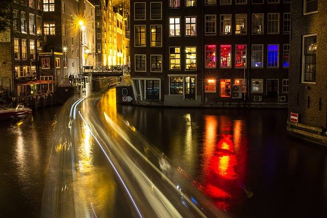 Amsterdam Canal Night - Free photo on Pixabay (104526)