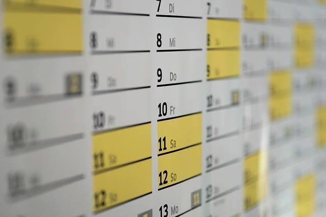 Calendar Wall Days - Free photo on Pixabay (106540)