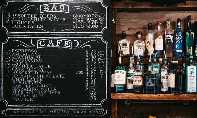 Chalkboard Menu Alcoholic - Free photo on Pixabay (110239)