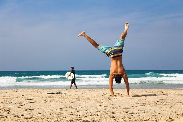 Handstand Beach Sea - Free photo on Pixabay (120899)