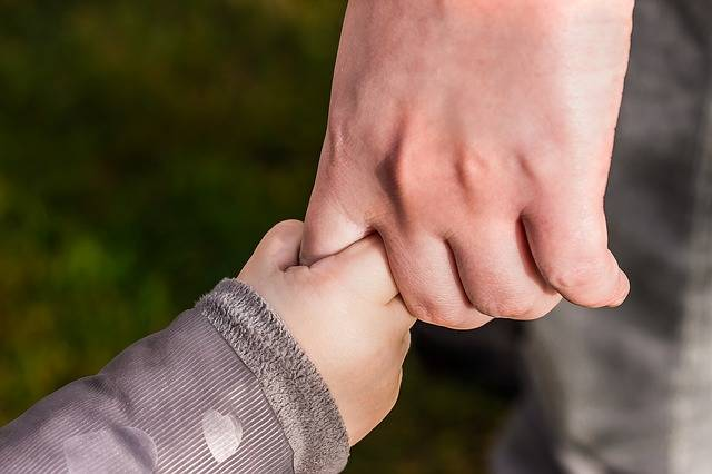Hands Child'S Hand Hold Tight - Free photo on Pixabay (130276)