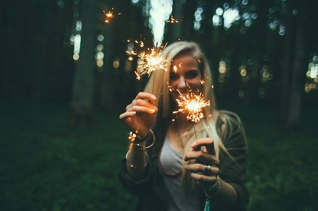 Girl Sparklers Fireworks - Free photo on Pixabay (132739)