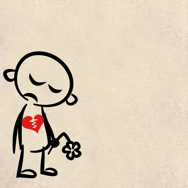 Sad Broken Heart - Free image on Pixabay (141476)