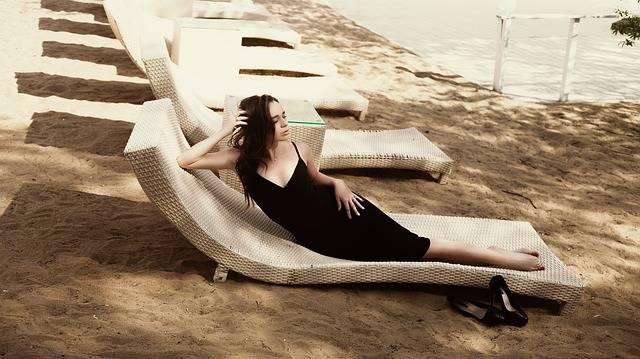 Beach Black Dress Fashion - Free photo on Pixabay (154816)