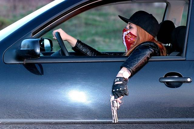 Girl Gangster Car - Free photo on Pixabay (159853)