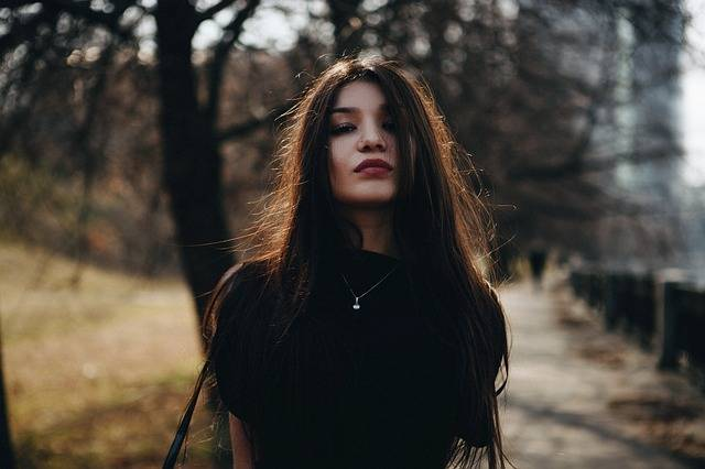 Portrait Girl In The Black Long - Free photo on Pixabay (161608)