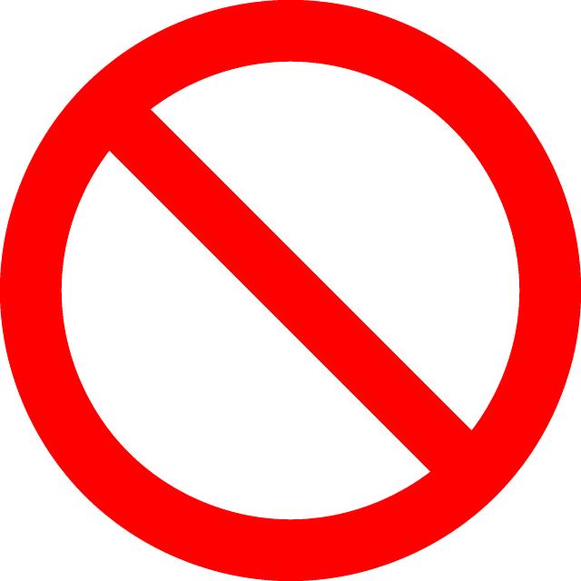 No Symbol Prohibition Sign - Free vector graphic on Pixabay (162502)