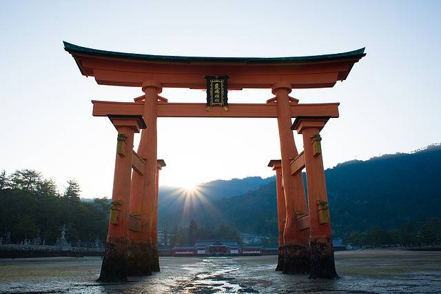 Torii Shrine Sea Itsukushima - Free photo on Pixabay (163570)