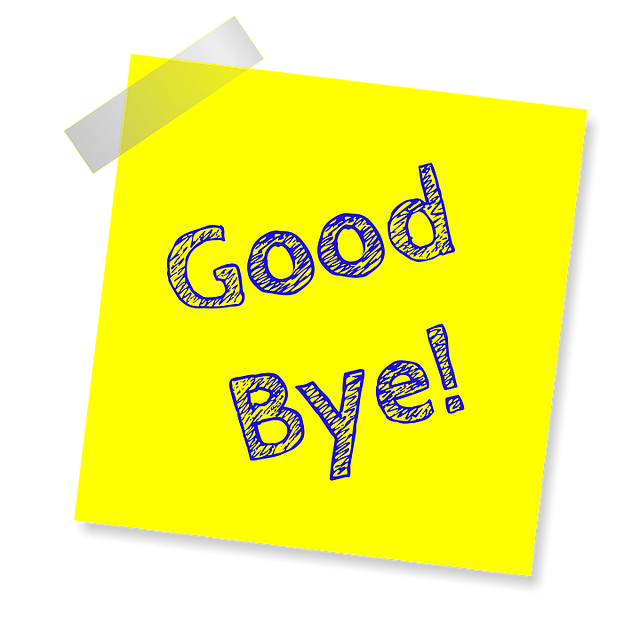 Good Bye Yellow Note - Free image on Pixabay (164224)
