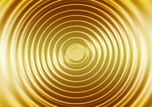 Wave Gold Concentric Waves - Free image on Pixabay (166236)