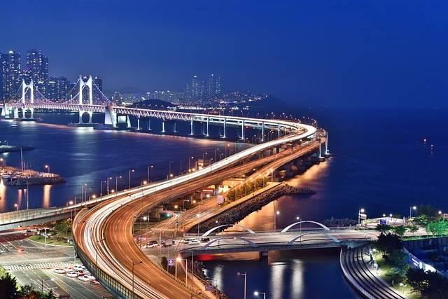 Busan Night Scene Bridge - Free photo on Pixabay (167314)