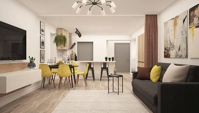 Kitchen-Living Room Modern Living - Free photo on Pixabay (168447)