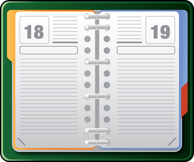 Organizer Datebook Diary - Free vector graphic on Pixabay (168910)