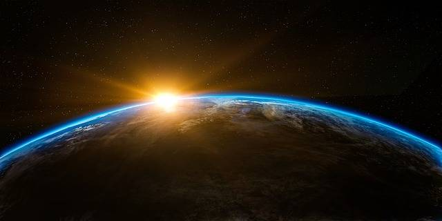Sunrise Space Outer - Free image on Pixabay (170495)