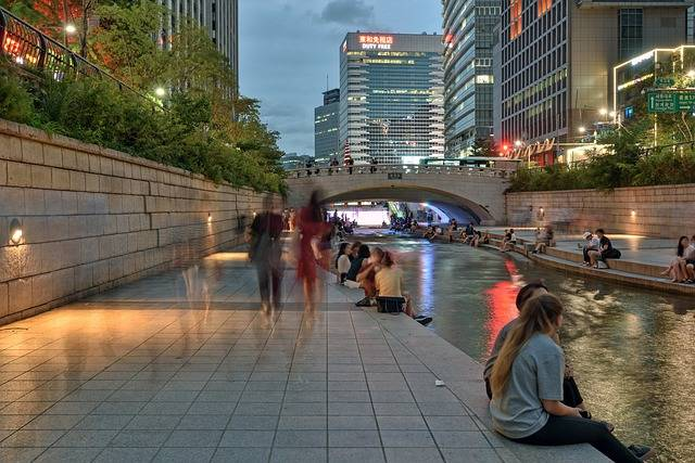Seoul Cheonggyecheon Stream Night - Free photo on Pixabay (172689)