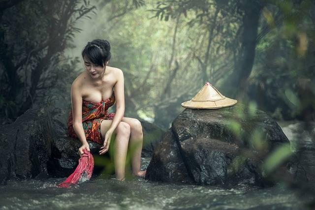 Asia Woman Bath Washing - Free photo on Pixabay (173292)