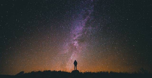Starry Night Sky Silhouette - Free photo on Pixabay (175106)