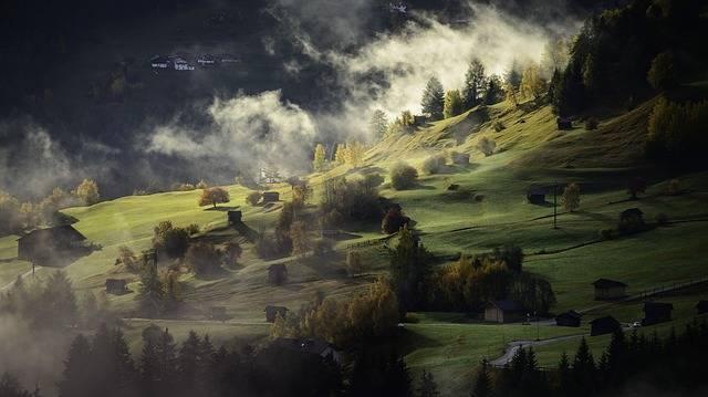 Landscape Autumn Fog - Free photo on Pixabay (175598)