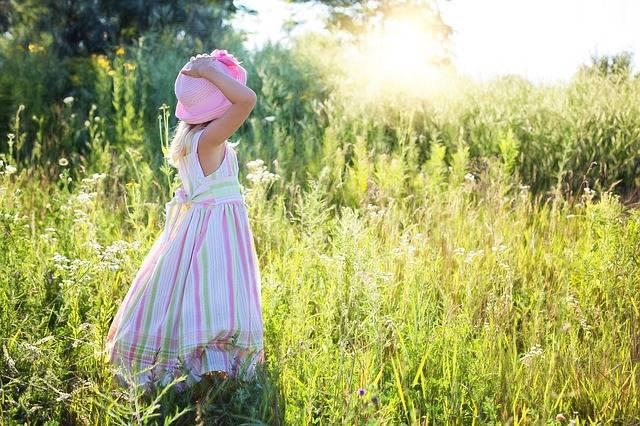 Little Girl Wildflowers Meadow - Free photo on Pixabay (175970)