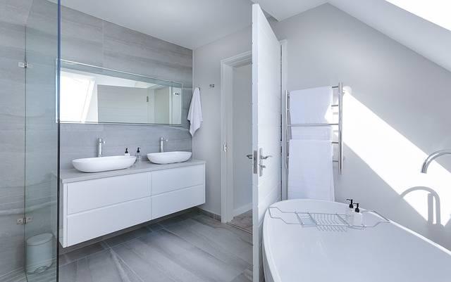 Modern Minimalist Bathroom Bath - Free photo on Pixabay (178918)