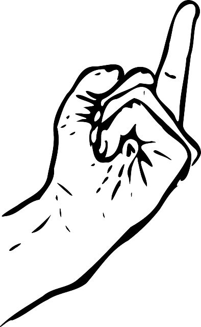 Middle Finger Gesture - Free vector graphic on Pixabay (180027)