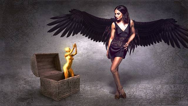Fantasy Angel Black - Free photo on Pixabay (180170)