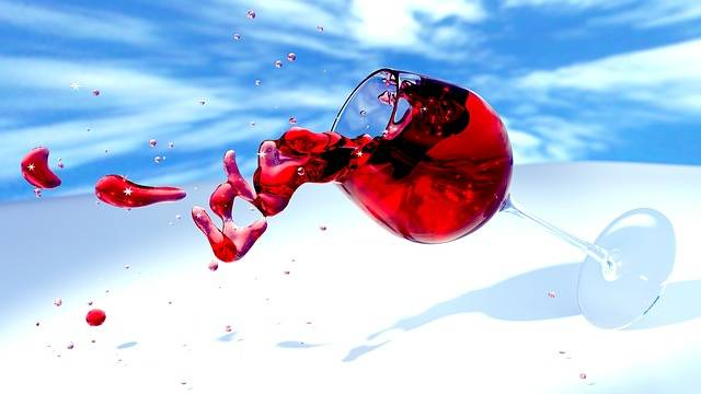 Wine Glass Red Tipping - Free image on Pixabay (180749)