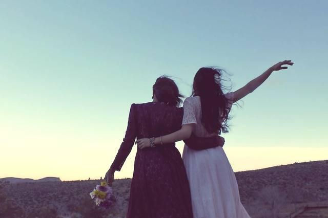 Girlfriends Sunset Vintage - Free photo on Pixabay (181014)